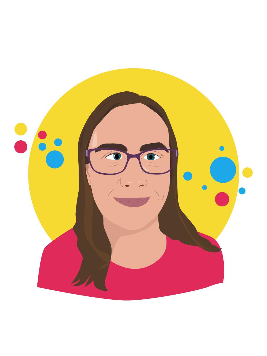 Graphic illustration of Alison