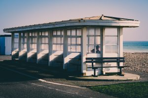 beach shelter on Worthing seafront