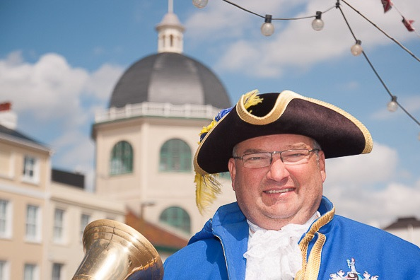 Bob Smytherman president of SSW and Worthing Town Crier