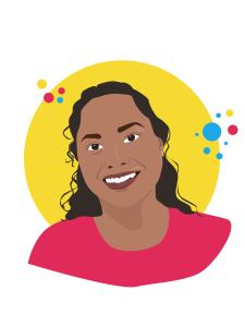 Graphic illustration of Anitha