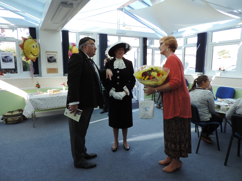 a photo showing Cherry Ward, Bob Smytherman and the lady mayor of Worthing